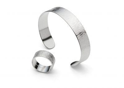 Texture Ring & Cuff Bracelet